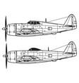 republic p-47 thunderbolt vector image vector image