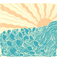 sea waves vector image vector image