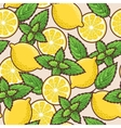Seamless lemon and peppermint vector image vector image