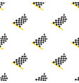 seamless pattern chequered racing flags vector image vector image