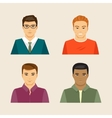 set of male faces vector image