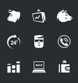 set of stock exchange icons vector image vector image
