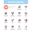 sportins center - modern simple icons pictograms vector image vector image