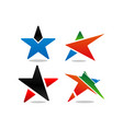 star logo and icon design template vector image vector image