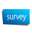 survey blue paper sign on white background vector image vector image