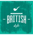 Vintage british style logo concept isolated vector image