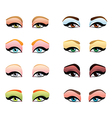 woman eyes make up vector image