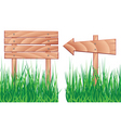wooden elements and grass vector image