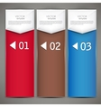Modern colorful numbered banners vector image