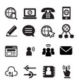 website communication icon vector image