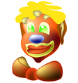 Clown with bow vector image