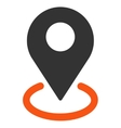 Geo Targeting icon from Business Bicolor Set vector image