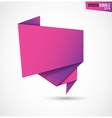 Abstract pink banner isolated on the white vector image vector image
