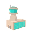 Airport control tower cartoon icon vector image vector image