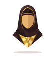 arabian women avatar vector image vector image
