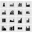 black factory icon set vector image