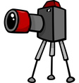 Camera clip art cartoon vector image