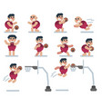 characters basketball game flat icon man vector image