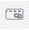 cit card concept linear icon isolated on vector image
