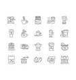 coffee shops line icons signs set vector image vector image