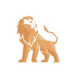 creative abstract lion logo vector image vector image