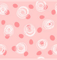 cute seamless pattern with rounded spots and vector image vector image