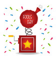 fools day card celebration vector image vector image