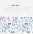 football concept with thin line icons vector image vector image