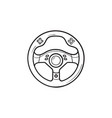 gaming steering wheel hand drawn outline doodle vector image vector image