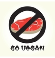 Go vegan meat vector image