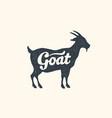 goat lettering design farm animals vector image