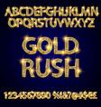gold rush alphabets vector image