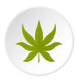 green chestnut leaf icon circle vector image vector image