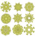 green embroidery vector image vector image