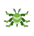 green virus color icon vector image