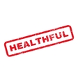 Healthful Text Rubber Stamp vector image vector image