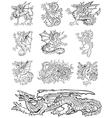 heraldic dragons vector image vector image