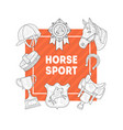horse sport banner template with horseback vector image vector image