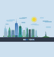 landscape of skyscrapers of new york city vector image vector image