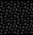 love outline seamless pattern with dark vector image