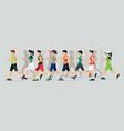 marathon runner vector image