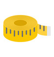 measure tape flat icon centimeter and size vector image vector image