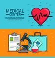 medical center concept design vector image vector image