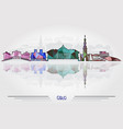 oslo city background vector image vector image