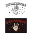 palmistry vector image
