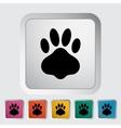 Paw icon vector image