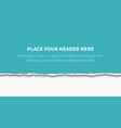 piece of torn paper vector image vector image
