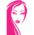 portrait of young pretty woman vector image vector image
