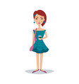 pretty female student with a fashionable hairstyle vector image vector image
