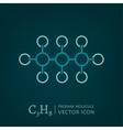 Propane Molecule Icon vector image vector image